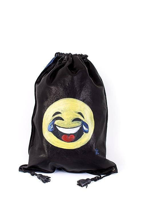 Vazzoler, mochila de piel natural 100% cordero. Emoji (emoticon) Joy