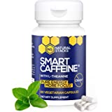 Natural Stacks Smart Caffeine Supplement 60ct - Instant Energy and Focus for Life School & Work - No Jitters and No Crash - P