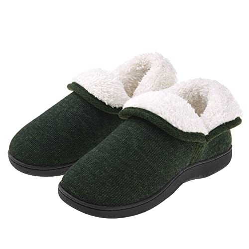 d12bc186594 Women Ankle High Slippers Plush Fleece House Shoes Boots Warm Cotton Cable  Knit Anti Skid Indoor