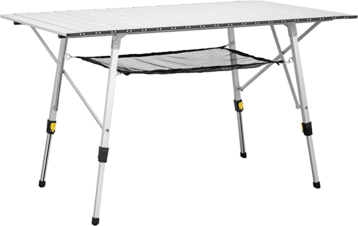Uquip Variety L Tavolo Pieghevole Da Campeggio In Alluminio 120 X 70cm Amazon It Casa E Cucina
