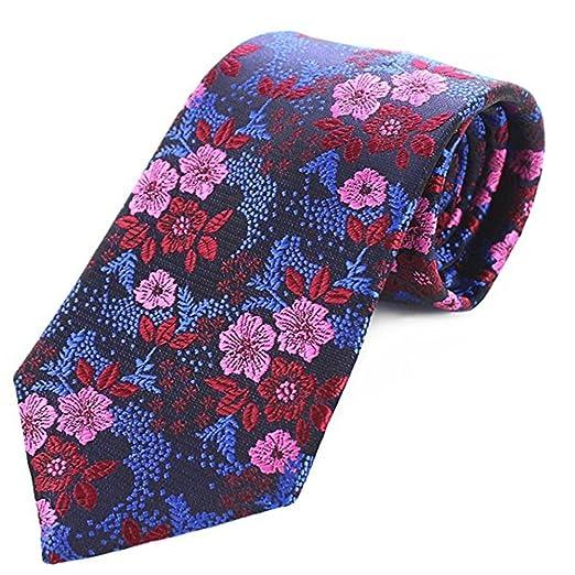 Zhongsufei Corbata Casual de Negocios para Hombre Lazo Floral de ...
