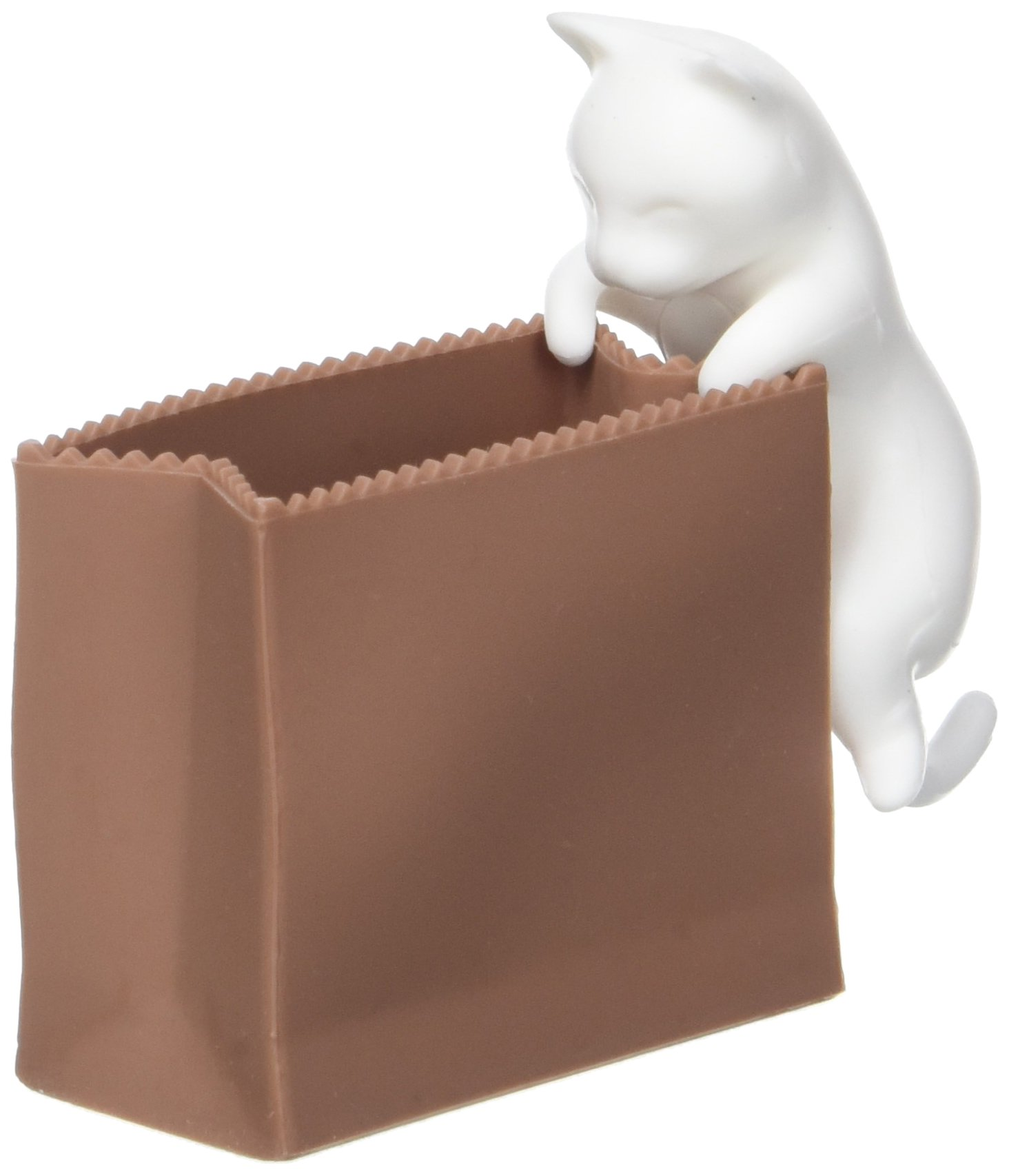 Hikali 4260348474116 Cat and Bag Paper Clip Holder by Hikali