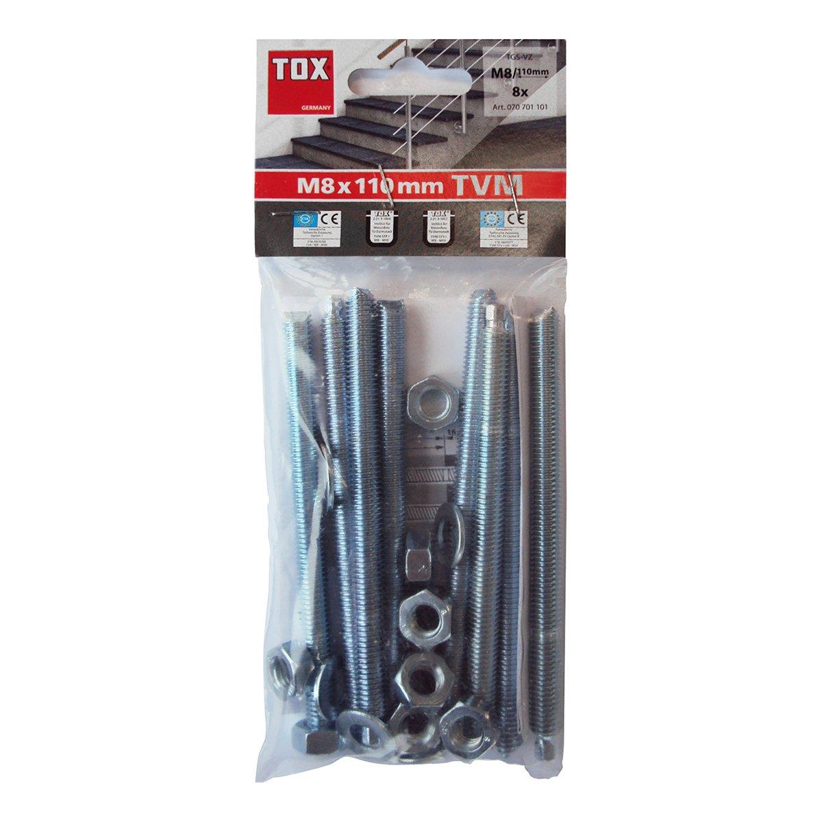 TOX Gewindesatnge Stix verzinkt M10 x 165 10 St/ück 070101161