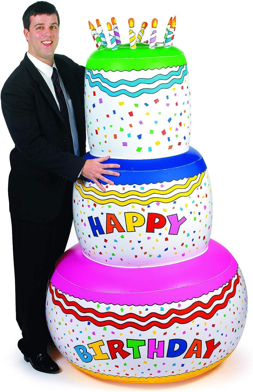 Amazon.com: Fun Express - Pastel de cumpleaños inflado ...