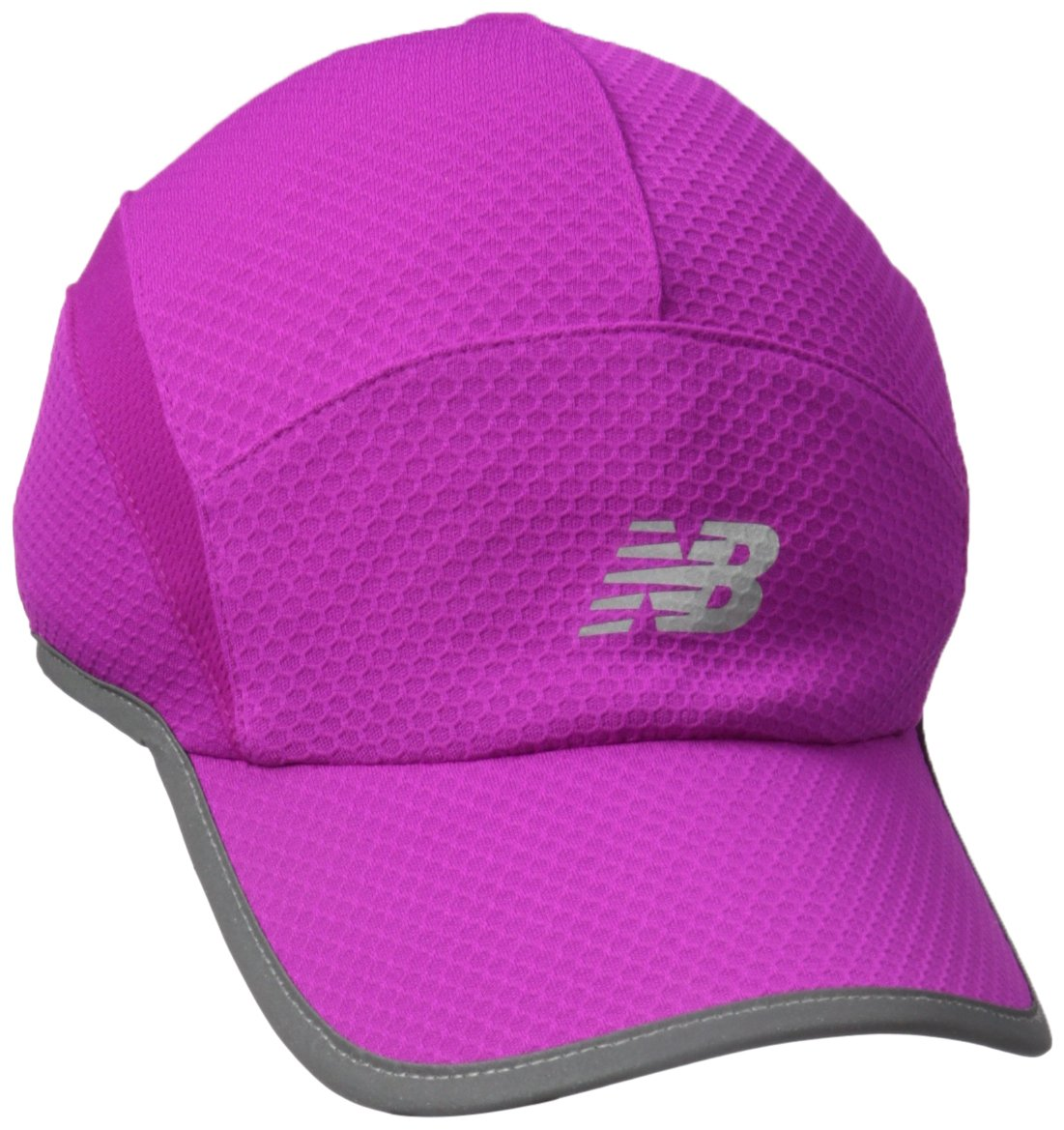New Balance 5 Panel Performance Hat, Poison Berry, One Size