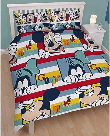 Copripiumino Matrimoniale Walt Disney.Disney Mickey Mouse Gioca Pippo Banda Piumino Matrimoniale Set