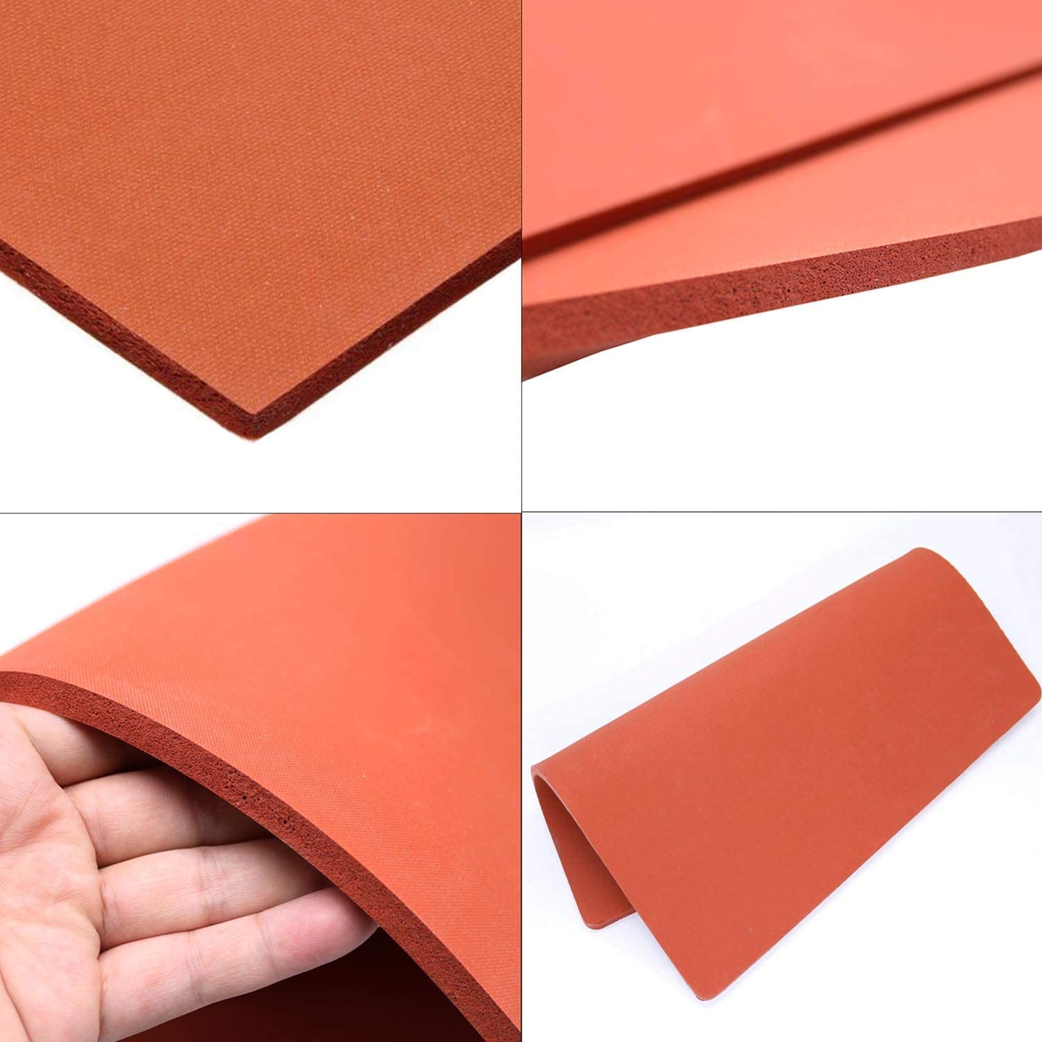 FlySkip 12x15Inch Heat Press Pad Mat 0.3 Thickest Silicone Pad for Heat Press Machine Flat Heat Transfer Press Replacement Pad 12x15Inch
