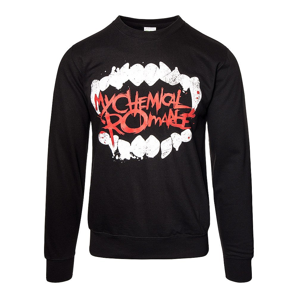 Unisex-adults Official My Chemical Romance Fangs Jumper - Large, (Black)