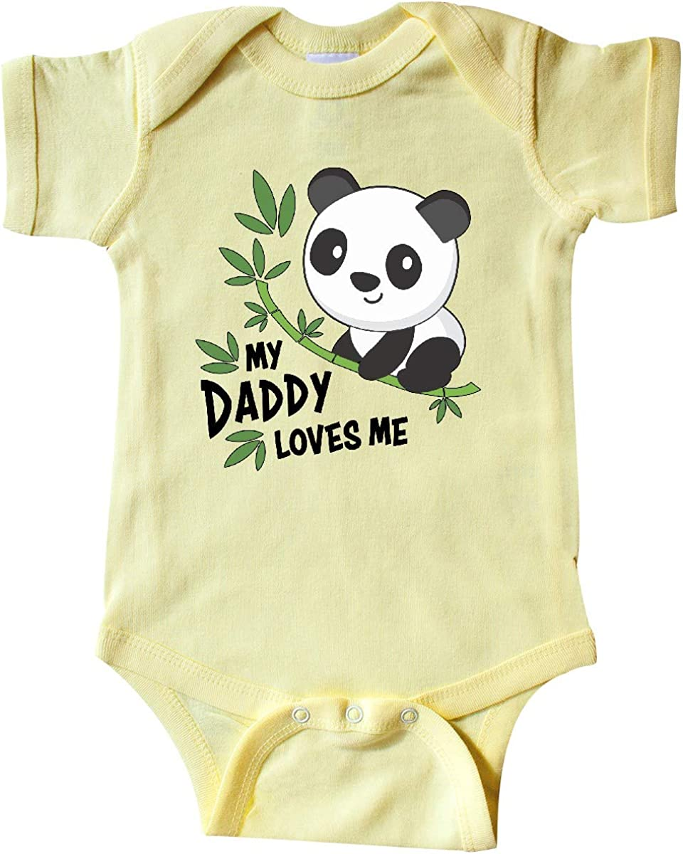 inktastic My Daddy Loves Me- Cute Panda Infant Creeper 71zprO9J2cL