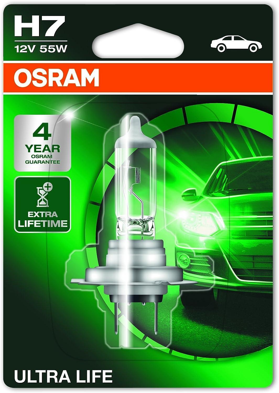 ensemble complet de lampes de rechange 1 pi/èce 12/V v/éhicules de tourisme lampes de phares halog/ènes CLKM H7 Bo/îte de lampes de rechange OSRAM ORIGINAL H7