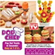 Pop Chef Stainless Steel Fruit Cutter, Multicolour