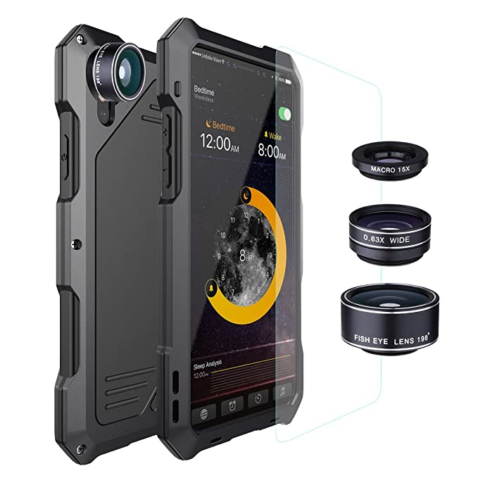 newest collection 10cf2 4912c iPhone X Lens Kit Case iPhone Xs Lens Kit Case, SHEROX - 198° Fisheye Lens  + 15X Macro Lens + Wide Angle Lens Aluminum Case with Screen Protector for  ...