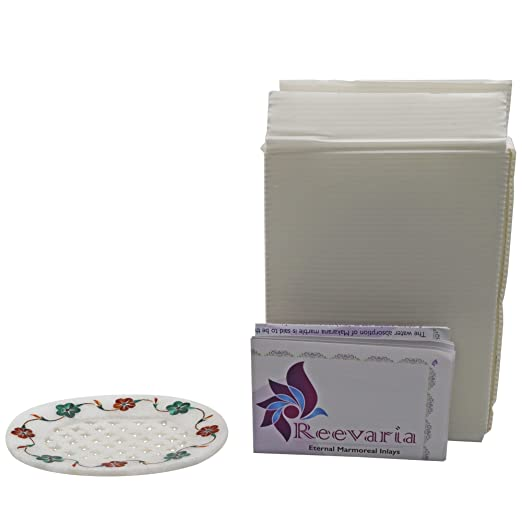 Amazon.com: Reevaria Pietra dura Marble Soap Dish - Multicolor Flowers - Handcrafted Design and Inlaid with Pure Natural and Semi Precious Stones: Home & ...