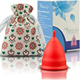 Athena Menstrual Cup - #1 Recommended Period Cup Includes Bonus Bag - Size 1, Transparent Green - Leak Free Guaranteed!