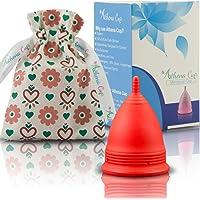 Athena Cup La Coupe Menstruelle La Plus Recommandée Comprend Un Sac Offert - Taille 2, Rouge Mat