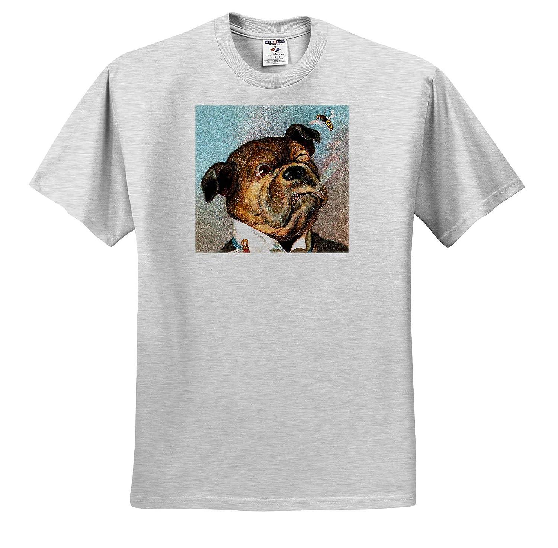 3dRose VintageChest T-Shirts The Aristocrat Dogs