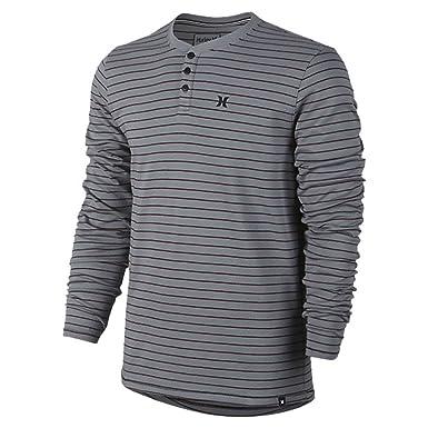 74bbc4153 Amazon.com: Hurley MKT0003750 Mens Dri-Fit Pierbowl Henley Shirt ...
