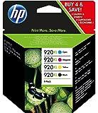 Original set HP Hewlett Packard cyan magenta yellow black No920XL cartridges for Officejet 6000 6500 7000 printers