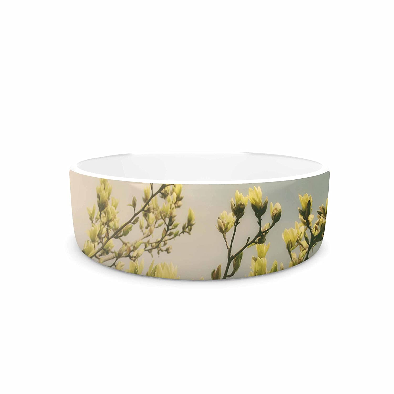 7\ KESS InHouse Angie Turner Yellow Magnolias  bluee Photography Pet Bowl, 7