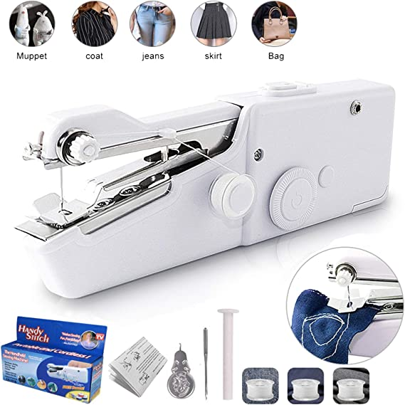 Handheld Sewing Machine Portable Mini Sewing Machine Cordless for Quick Stitch Home Handy Stitch Electric Sewing Machine