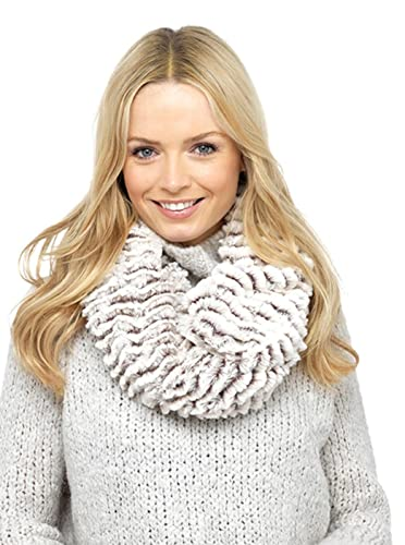 Foxbury - Bufanda - para mujer beige Beige Stripe Talla única