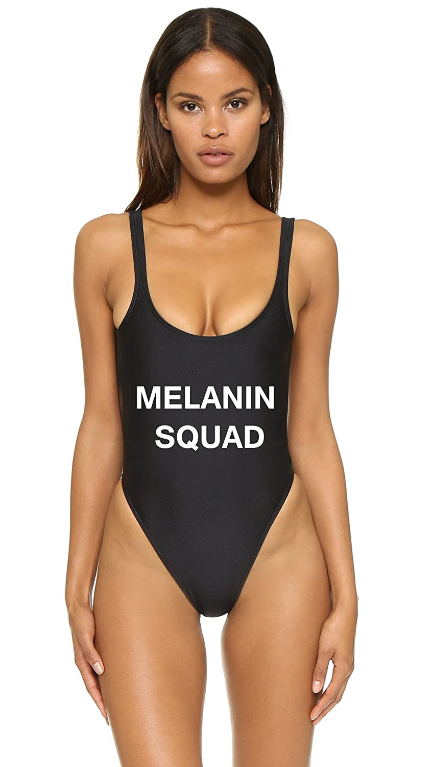 832d209aa6969 ShopBridesmaids Melanin Squad One-Piece Suit at Amazon Women's Clothing  store:
