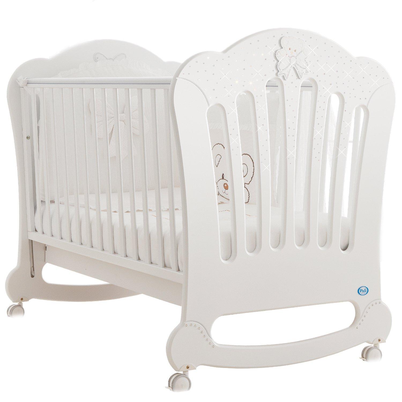 Pali Kinderbett Principe Prestige (für Matratze 64x124) Buchenholz Weiß