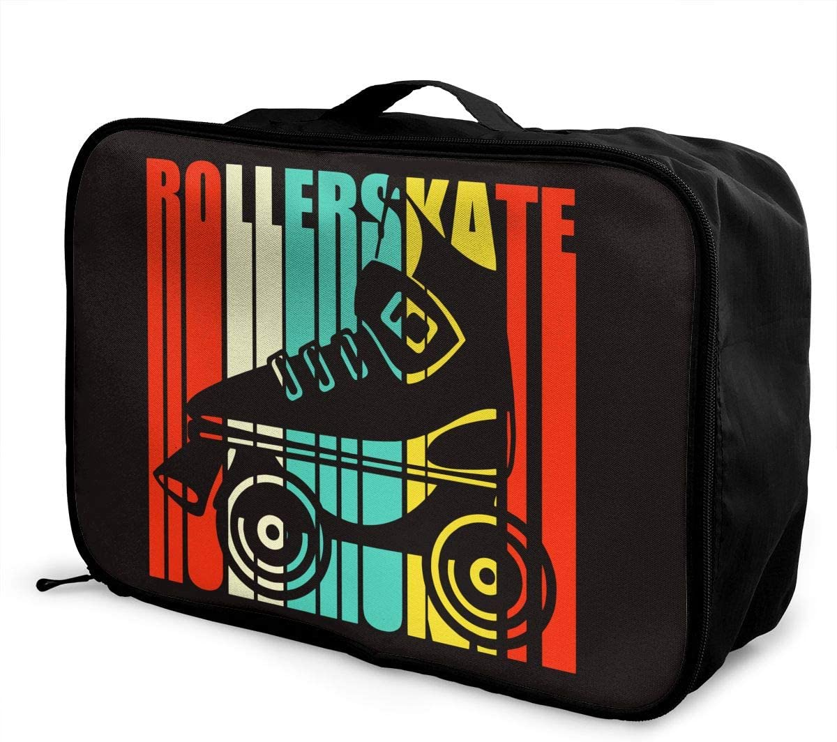 Retro Roller Skate Tote Lightweight Large Capacity Portable Outdoor Luggage Trolley Bag