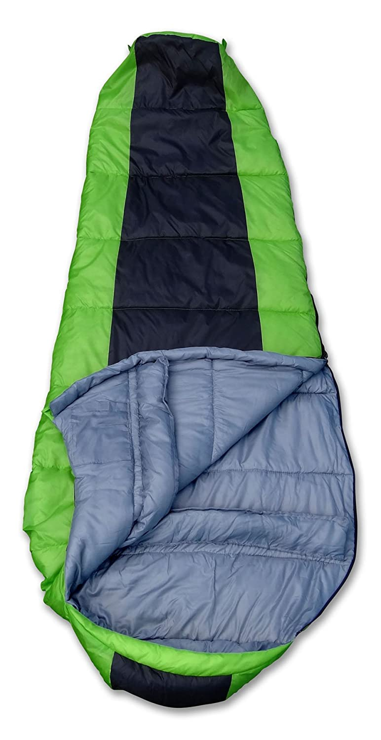 GigaTent Camping Mummy Sleeping Bag Weatherproof Reversible Bag Doubles as Comforter Machine Washable Green SL05 33x 80 3 Season Insulation and Heat Retention Ultra Soft and Light Flame Resistant 35 Degree