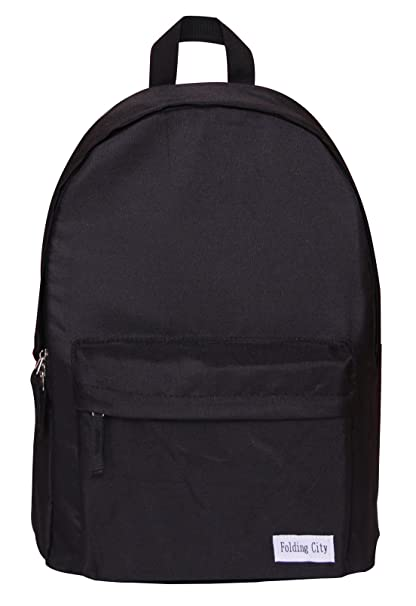 1d699e6734 Folding City Backpack For Boys Girls Teenagers Lightweight Roomy School Bag  Black