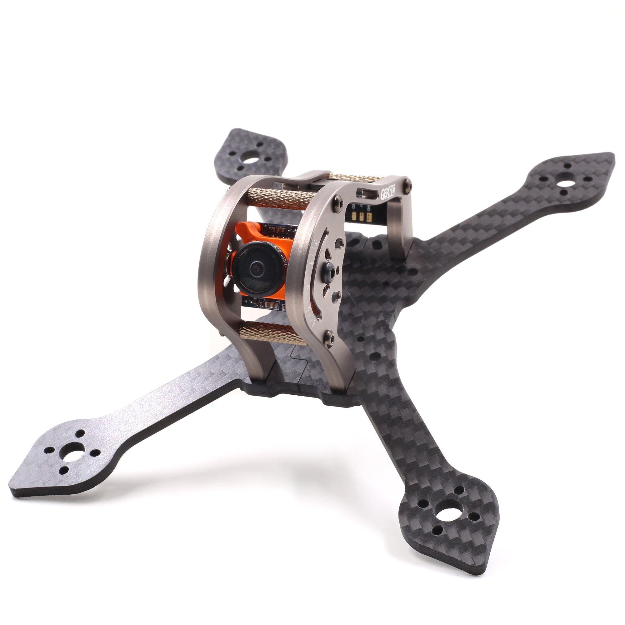 Crazepony GEPRC Sparrow 139MM FPV Frame with RGB LED 3K Carbon Fiber Frame 3mm Thickness Support RUNCAM Swift Mini and Micro Swift lens for Racing Quadcopter Drone (GEP-MX3) (145MM-Silvery) by Crazepony