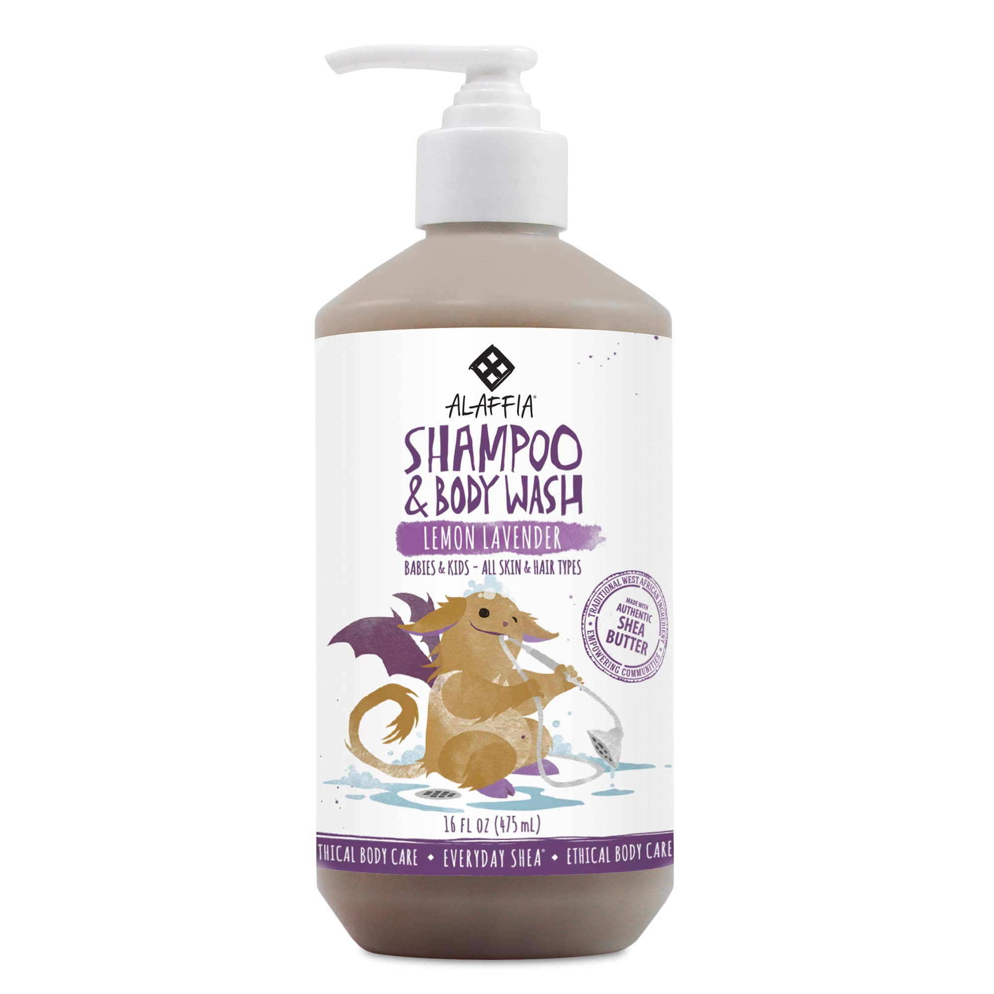 Alaffia – Everyday Shea Shampoo and Body Wash, Babies and Kids, Gentle and Calming Support for Soft Hair and Skin with…