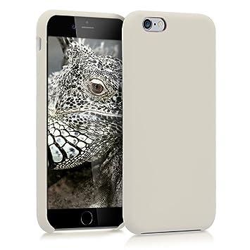 kwmobile Funda para Apple iPhone 6 / 6S - Carcasa de TPU para teléfono móvil - Cover Trasero en Crema