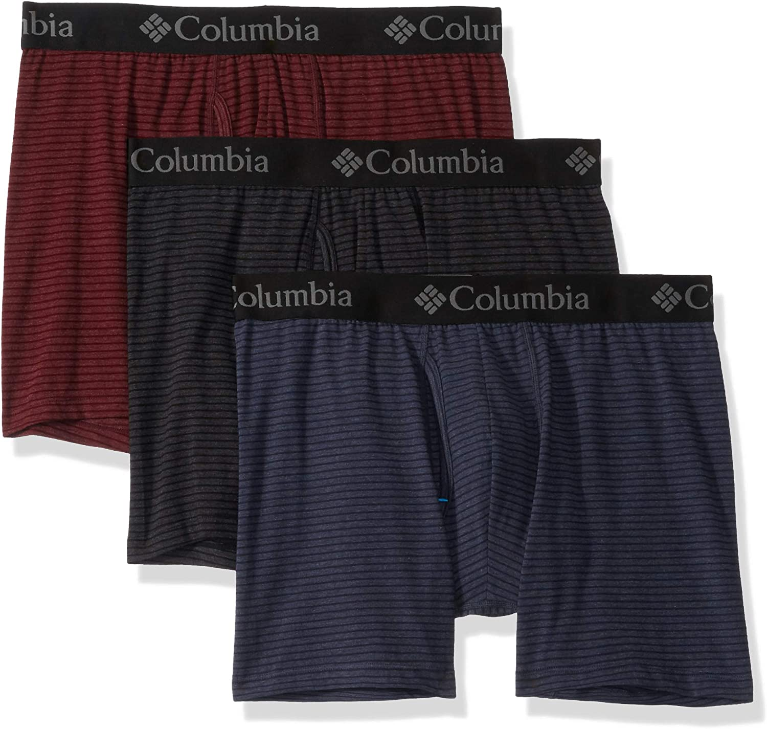 Columbia Men's Performance Cotton Stretch Boxer Brief - 3 pack