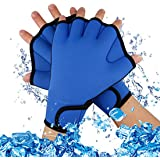 3673fa5bb7c A-szcxtop Diving Webbed Gloves Aquatic Exercise Swim Gloves Fingerless  Swimming Hand Webbed…