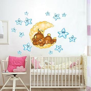 rcc0024 adesivo murale per bambini wall art - orsetto dolci sogni ... - Decorazioni Pareti Orsetti