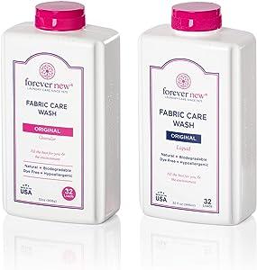 FOREVER NEW (2 pk) Natural Liquid Laundry Detergent (32 Fl Oz) + Granular Detergent Powder (32 Fl Oz) Combo (64 Fl Oz Total)
