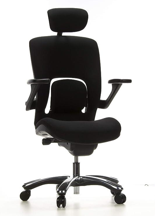 BürostuhlDrehstuhl VAPOR LUX Stoff schwarz