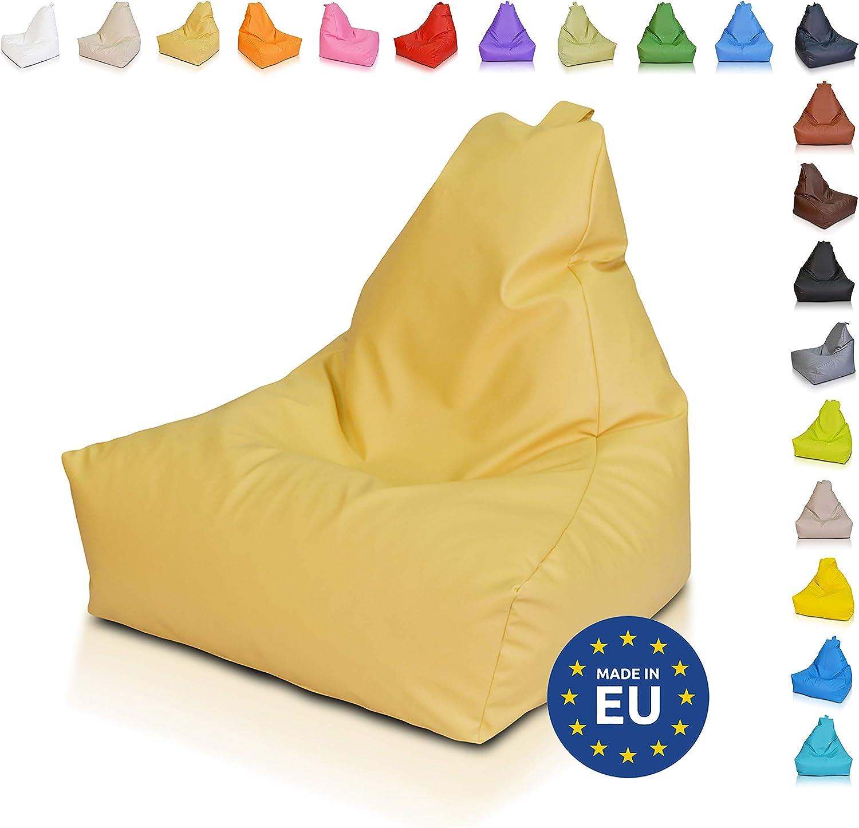 Ecopuf Keiko S Mix Puff Poltrona Sacco Patchwork in Microfibra Felpata Pouf con Maniglia 70x75Cm