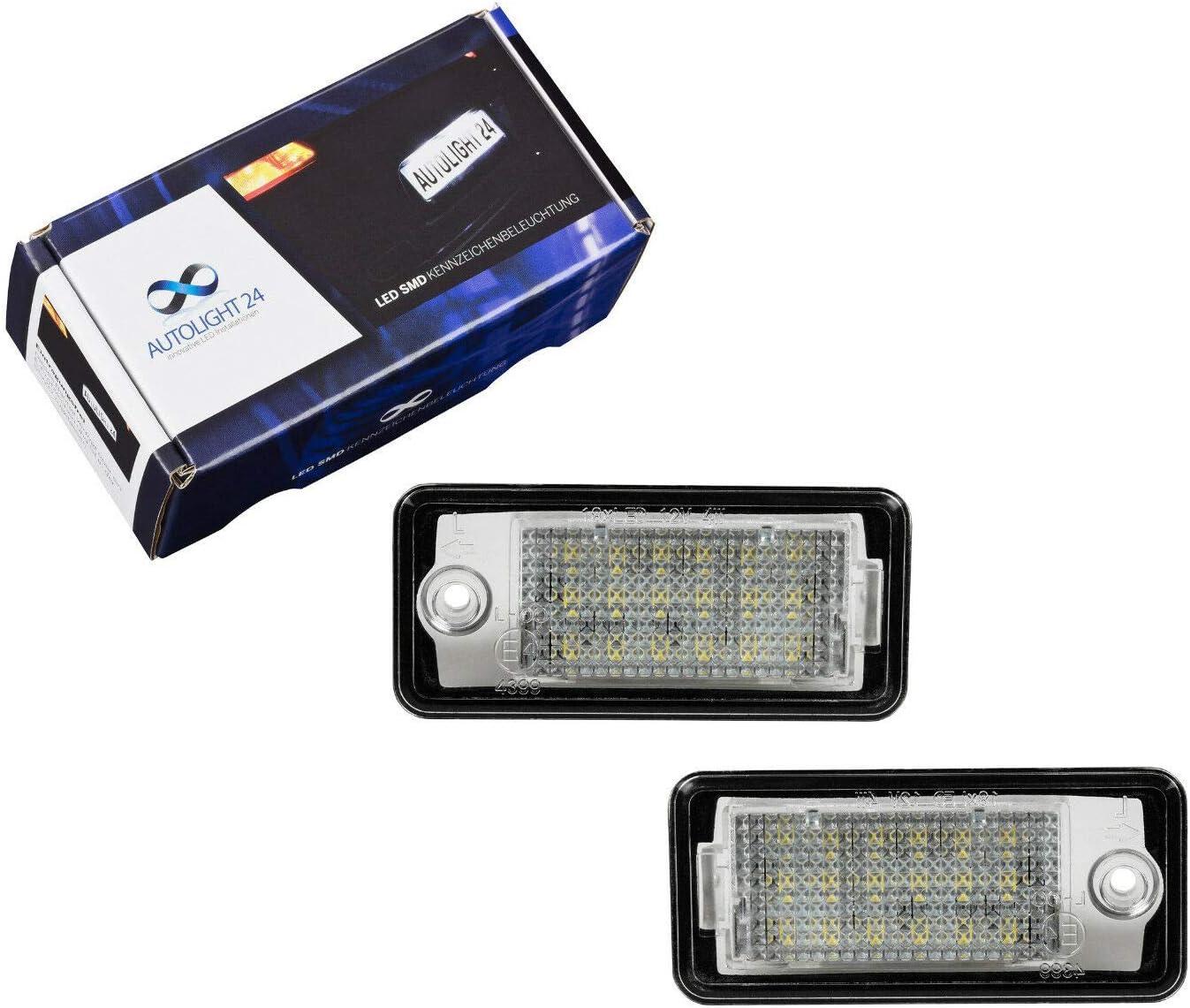 2 X Premium Led Kennzeichenbeleuchtung Q7 A4 S4 B6 B7 8e A6 S6 4f C6 A3 8p Kb24 Auto