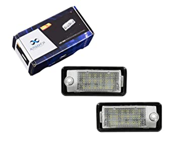 2 luces LED para matrícula Q7 A4 S4 B6 B7 8E A6 S6 4F C6 A3 8P KB24: Amazon.es: Coche y moto