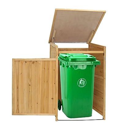Genial Kinbor Outdoor Garbage Storage Shed Trash Can Enclosure Hideway Wooden