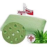 VENIXSOFT cuscino per letto ortopedico in memory foam Anti Soffoco Terapeutico in linfa DI ALOE VERA dall'effetto cervicale rilassante e riposante. MASSIMA TRASPIRAZIONE fodera cotone, forma classica antiacervicale-DISPOSITIVO MEDICO CLASSE I-Made in Italy