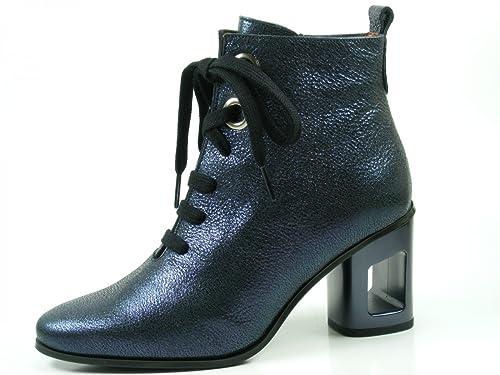 Hispanitas MIA MHI75714 Botines de Cuero para Mujer Ankle Boots, Schuhgröße_1:37 EU;Farbe:Bleu: Amazon.es: Zapatos y complementos