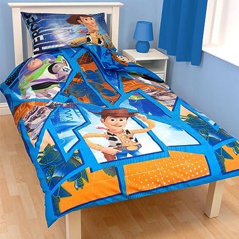Copripiumino Toy Story.Toy Story Fractal Single Duvet Cover Set Reversible Design