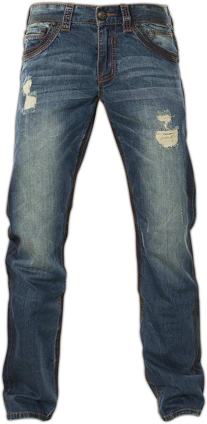 AFFLICTION Ace Fleur Bradford 110SS173 New Slim Straight Fit Denim Jeans for Men