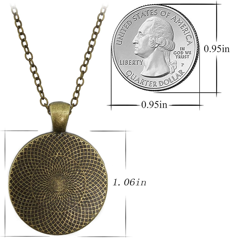 JEANCZ Silver Necklace Retro Libra Constellation Special Design Glass Cabochon Dome Jewelry