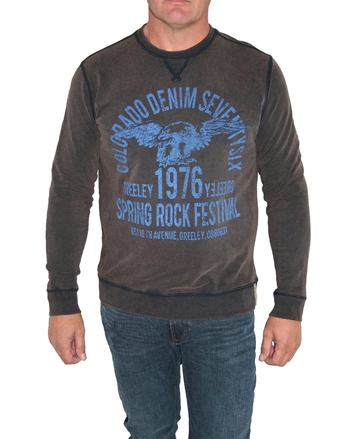 Colorado Jeanswear Men's slogan Long Sleeve Jumper brown brown