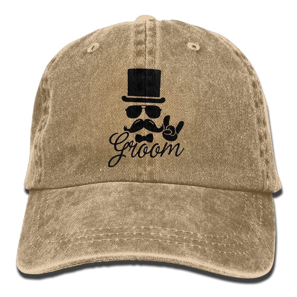 Trableade Groom Wedding Bachelor Unisex Sport Adjustable Structured Baseball Cowboy Hat
