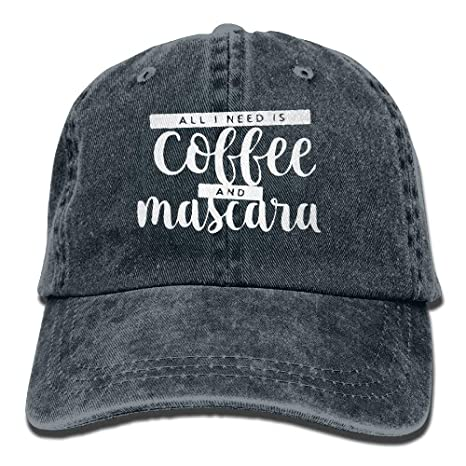 Vidmkeo Todo lo Que Necesito es café y rimel Unisex Denim Jeanet ...